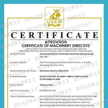 Congratulations to our company's road rollers passed the European CE safety certification